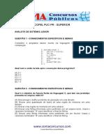 Analista de Sistemas Junior Geoprocessamento COPEL PUCPR Superior