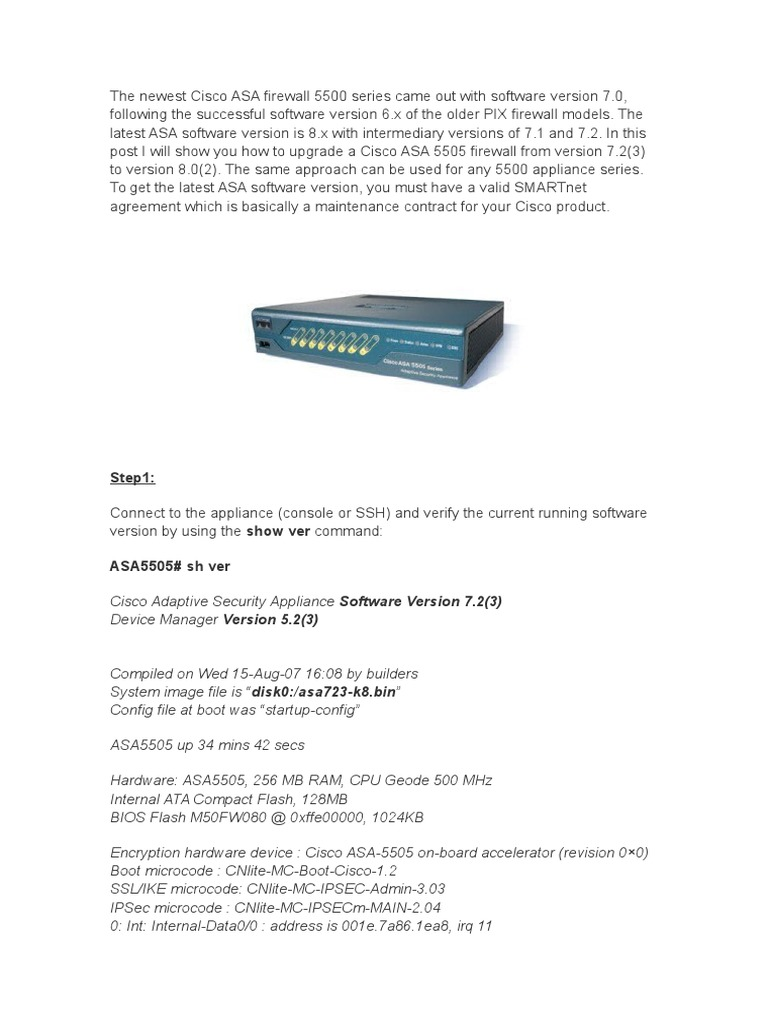 Upgrade Asa 5505 | Computer Data | Computing