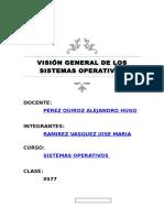 Resumen - Visión General de Los Sistemas Operativos (Ramirez Vasquez Jose)