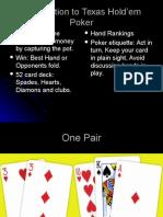 Basics of Texas Hold'Em Poker