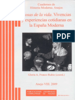 RUBIO, G a F (Org) (2009) Cosas de La Vida - Vivencias y Experiencias Cotidianas en La España Moderna