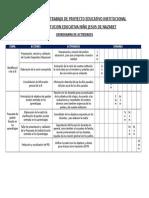 Cronograma de Trabajo de Proyecto Educativo Institucional