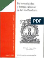 RUBIO, G a F (Org) (2002) de Mentalidades y Formas Culturales en La Edad Moderna