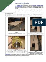 Guía para corte con sierra circular