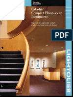 Lightolier Calculite CFL Downlighting Catalog 1996