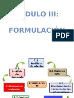 4. Modulo III - Formulacion