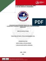 2006 Propuesta de Un Segundo Modelo de Un Edificio de Albañileria Confinada a Escala Reducida a Ensayar en Mesa Vibradora