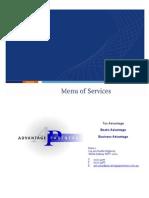 Advantage Partners Accountants Sydney 9541195 - Menu of Services