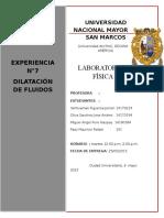 labo 7 dilatacion