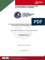 2008 Estudios Tecnicos Para El Desarrollo Integral de Un Proyecto de Viviendas Multifamiliares