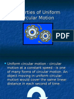 Properties of Uniform Circular Motion