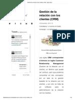 Gestión de La Relación Con Los Clientes (CRM) - Ignasi Sayol