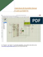 Interfacing of Temperature and Humidity Sensor