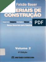 BAUER VOL2 - Materiais de Construcao - Volume 2 - Bauer