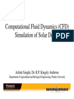 Computational Fluid Dynamics Simulation of Solar Dryers a Sanghi