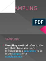 Sampling Report Ppt