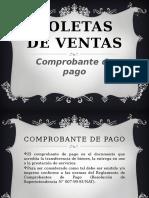 Boletas de Ventas
