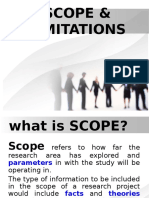 RESEARCH PAPER - SCOPE & LIMITATIONS (Reporting)