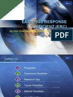 Earnings Response Coeficient Erc Presentation