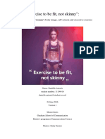 Tesis Exercise to Be Fit, Not Skinny