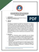 Programa de Finanzas Internacionales 2017