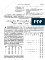 Colorimetric Determination of Fluoride Using Ferric Chloride