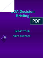 COA Decision Briefing