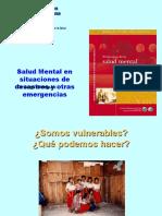 Salud Mental en Situaciones de Desastres y Otras Emergencias