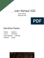 Laporan Konsul IGD