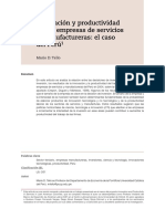 Innovación y Productividad de Empresas Manufactureras Peruanas