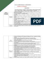 Cartel de Competencias y Capacidades Por Grados Dcn