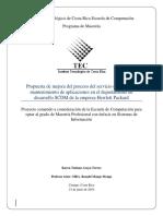Propuesta Mejora Proceso Servicio Soporte
