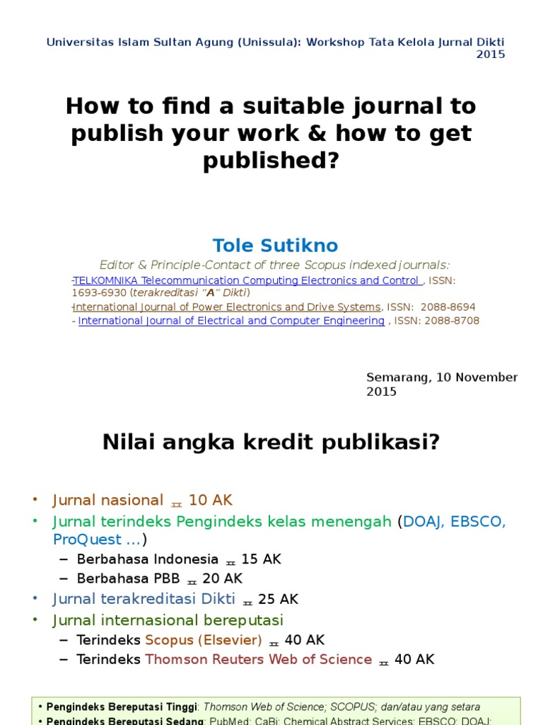 1 Choosing the right journal for your research pptx
