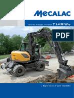 Excavadora Multifuncional Sobre Llantas de La Marca Mecalac Modelo 714MWe