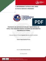 2010 Propuesta de Aditivos Naturales y Microfibras de Papel Para Reparar Fisuras en Muros de Monumentos Historicos de Tierra