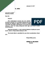 Kwesi Excuse Letter