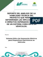 Reporte Del Análisis de La Viabilidad Técnica Del Proyecto
