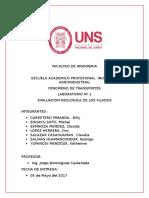 Evaluacion Reologica de Los Fluidos Informe
