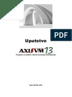 AxisVM13 Uputstvo