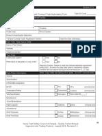 Tank Pressure Test Form