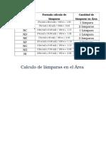 calculo lux