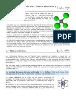 Tema 3 - Concepto de Mol. Masas Atómicas y Moleculares