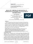 ROLE OF CORPORATE REPORTING IN EMERGING ECONOMIES AS INVESTMENT INFORMATION