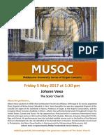 Johann Vexo MUSOC 5 May 2017