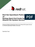 Red Hat OpenStack Platform-10-NetApp Back End Guide for the Shared File System Service-En-US