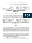 Montgomery Modular Algorithm of Radix Multiplication