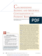CHLORHEXIDINE BATHING AND MICROBIAL CONTAMINATION IN PATIENTS' BATH BASINS