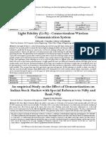 Light Fidelity (Li-Fi) - Connectionless Wireless Communication System