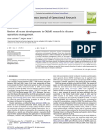Review of Recent Developments in ORMS Research in Disaster Operations Management
