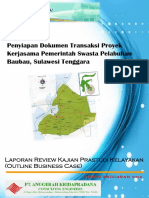 Reviu Kajian Awal Prastudi Kelayakan (Outline Business Case)